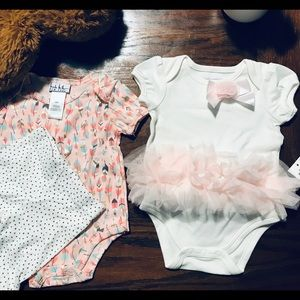 💝Two baby girl outfits 3-6m🎀